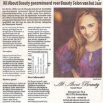 Advertentie Nominatie Beauty Award 2012